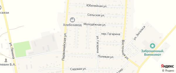 Улица Матросова на карте поселка Рогнедино с номерами домов