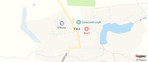 Строительная улица на карте деревни Ужа с номерами домов