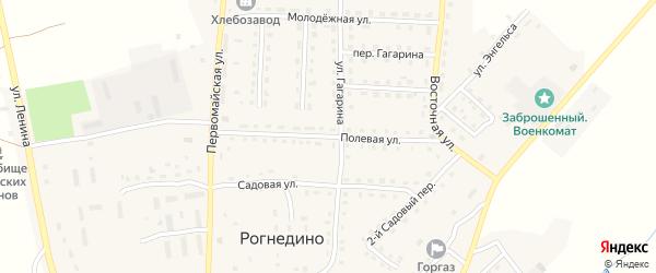 Полевая улица на карте поселка Рогнедино с номерами домов
