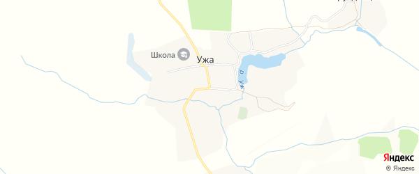 Карта деревни Ужа в Брянской области с улицами и номерами домов