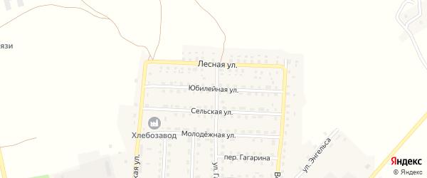 Юбилейная улица на карте поселка Рогнедино с номерами домов