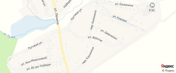 Переулок Калинина на карте поселка Рогнедино с номерами домов