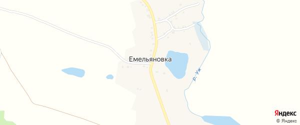 Колхозная улица на карте деревни Емельяновки с номерами домов