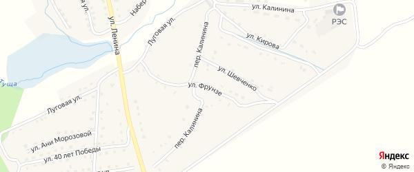 Улица Фрунзе на карте поселка Рогнедино с номерами домов