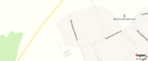 Мелиоративная улица на карте села Сельца с номерами домов