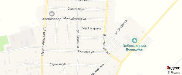 Восточный переулок на карте поселка Рогнедино с номерами домов