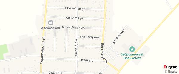 Переулок Гагарина на карте поселка Рогнедино с номерами домов