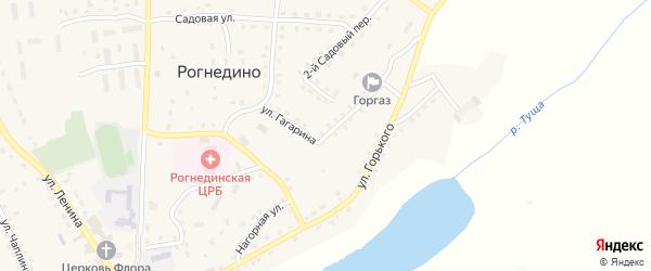 Нагорная улица на карте деревни Казинки с номерами домов