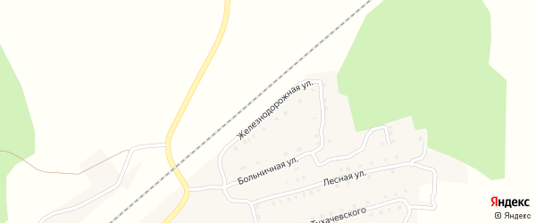 Железнодорожная улица на карте поселка Гобики с номерами домов
