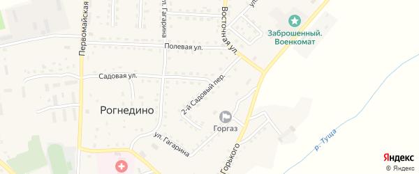 Садовый 2-й переулок на карте поселка Рогнедино с номерами домов