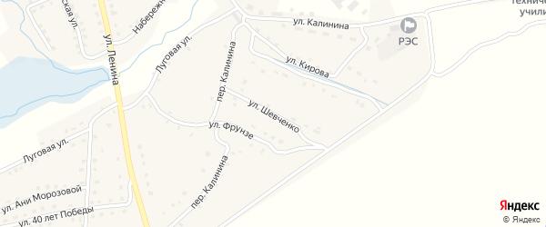 Улица Шевченко на карте поселка Рогнедино с номерами домов