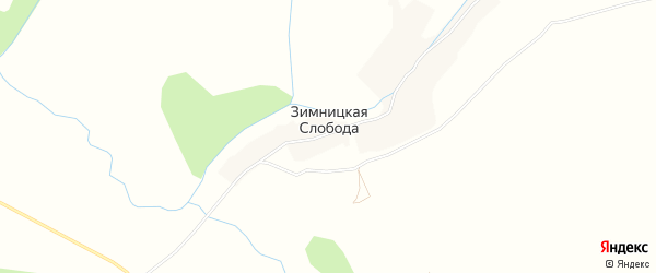 Карта деревни Зимницкой Слободы в Брянской области с улицами и номерами домов