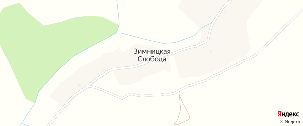 Переулок Новоселов на карте деревни Зимницкой Слободы с номерами домов