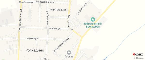 Восточная улица на карте поселка Рогнедино с номерами домов