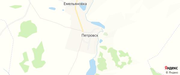 Карта деревни Петровска в Брянской области с улицами и номерами домов