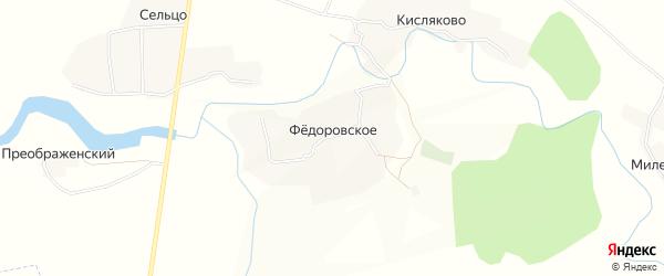 Карта Федоровского села в Брянской области с улицами и номерами домов