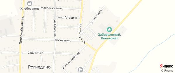 Переулок Энгельса на карте поселка Рогнедино с номерами домов