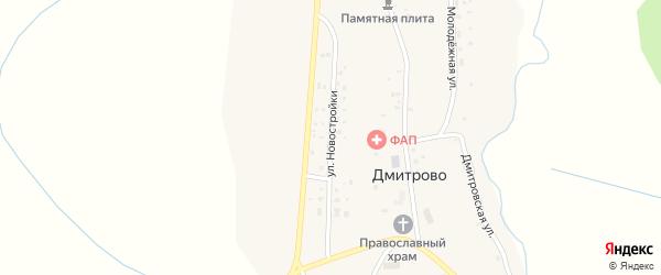 Улица Новостройки на карте села Дмитрово с номерами домов
