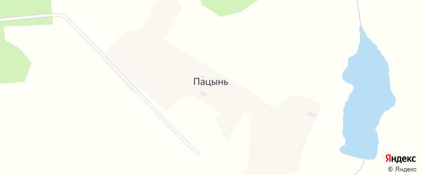Садовая улица на карте села Пацыни с номерами домов