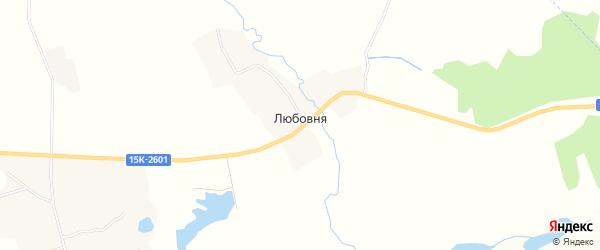 Карта деревни Любовни в Брянской области с улицами и номерами домов