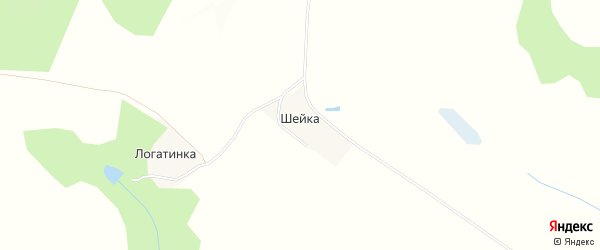 Карта поселка Шейки в Брянской области с улицами и номерами домов