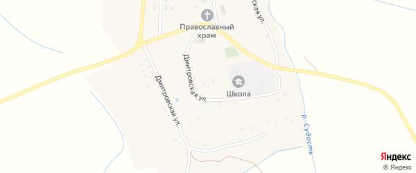 Молодежная улица на карте села Дмитрово с номерами домов