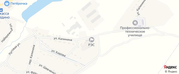 Улица Калинина на карте поселка Рогнедино с номерами домов