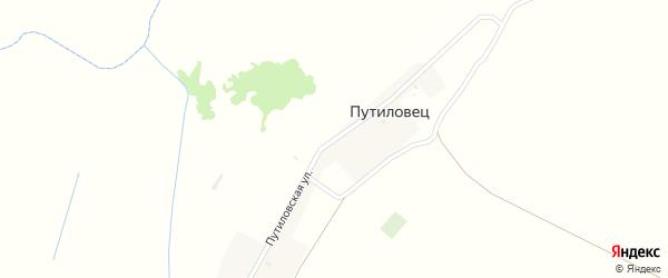 Путиловская улица на карте поселка Путиловца с номерами домов