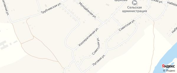 Кооперативная улица на карте села Сельца с номерами домов
