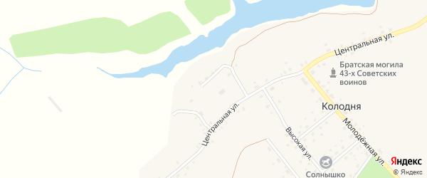 Озерный переулок на карте деревни Колодни с номерами домов
