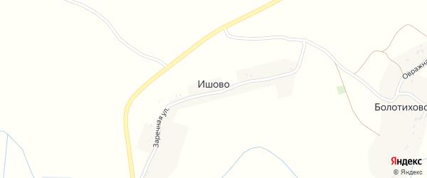Школьная улица на карте села Ишово с номерами домов