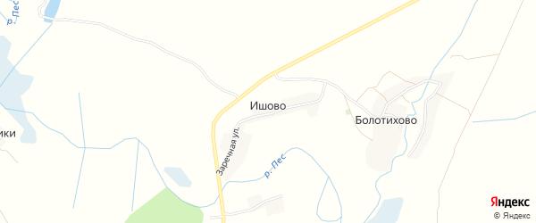 Карта села Ишово в Брянской области с улицами и номерами домов