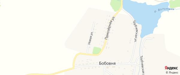 Новая улица на карте деревни Бобовни с номерами домов