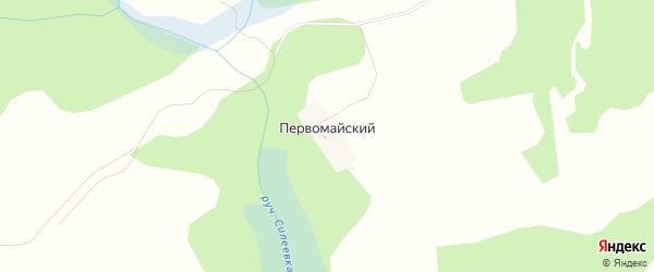 Карта Первомайского поселка в Брянской области с улицами и номерами домов