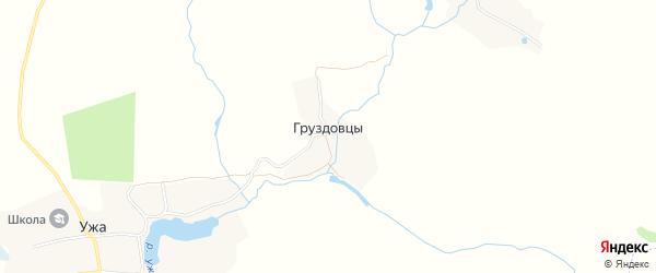 Карта деревни Груздовцы в Брянской области с улицами и номерами домов