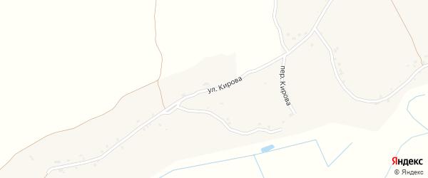 Улица Кирова на карте Первомайского села с номерами домов