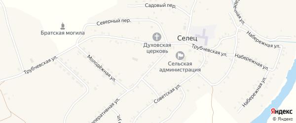Трубчевская улица на карте села Сельца с номерами домов