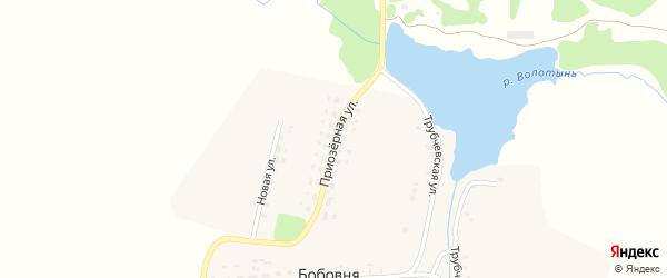 Приозерная улица на карте деревни Бобовни с номерами домов