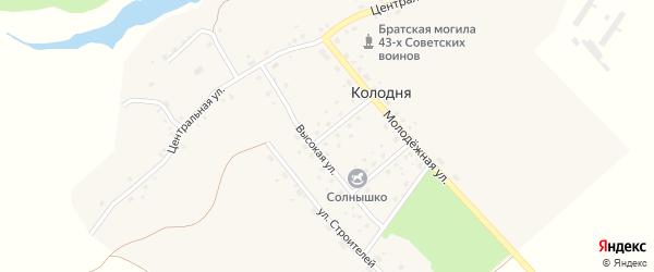 Садовый переулок на карте деревни Колодни с номерами домов