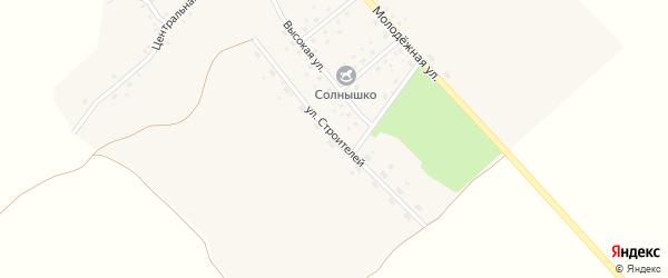 Улица Строителей на карте деревни Колодни с номерами домов