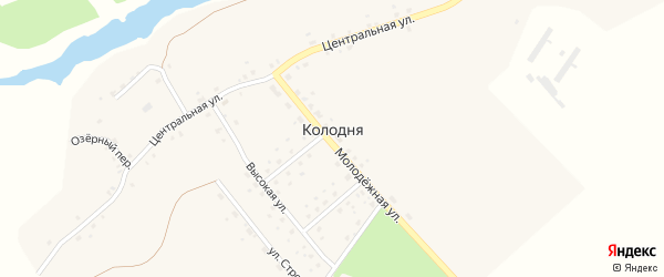 Цветочный переулок на карте деревни Колодни с номерами домов