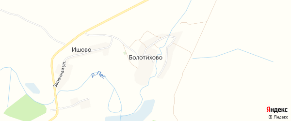 Карта деревни Болотихово в Брянской области с улицами и номерами домов