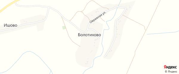 Овражная улица на карте деревни Болотихово с номерами домов