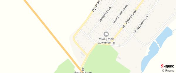 Родниковый переулок на карте деревни Никольской Слободы с номерами домов