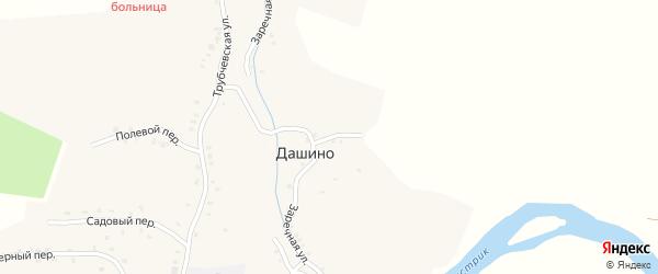 Заречная улица на карте деревни Дашино с номерами домов