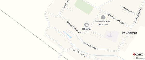 Улица Состовка на карте села Рековичей с номерами домов