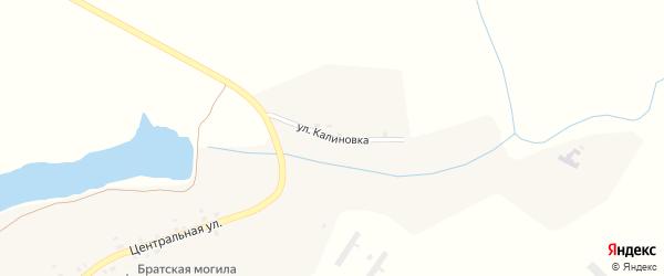 Улица Калиновка на карте деревни Колодни с номерами домов