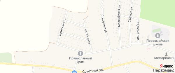 Улица Жукова на карте Первомайского села с номерами домов