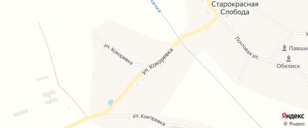 Улица Кокоревка на карте деревни Старокрасной Слободы с номерами домов