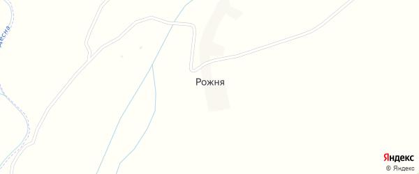 Сиреневая улица на карте деревни Рожни с номерами домов